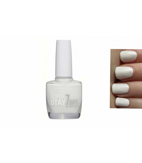 Vernis Forever Strong Super Stay 7 Days de Maybelline N°71 Blanc Pur