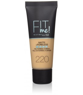 Fond de Teint Fit Me Matte Poreless de Maybelline - 220 NATUREL