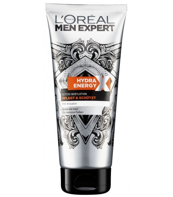 L'OREAL MEN EXPERT - Soin Corps - TATTOO BODYLOTION HYDRA ENERGY X - 200ml