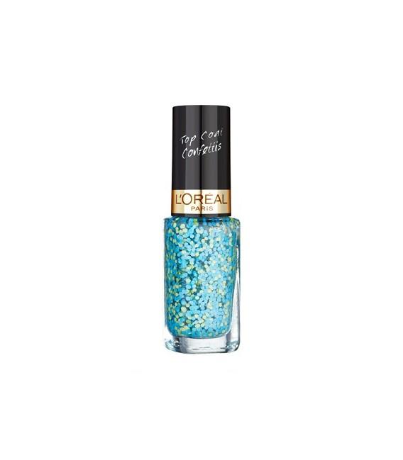Vernis à Ongles L'OREAL Color Riche Top Coat  Confettis n°928 OULALA BLUE