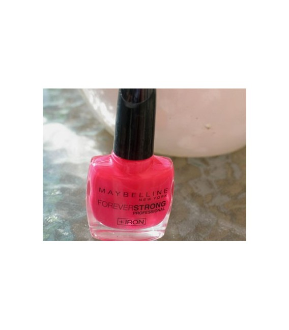 Vernis à Ongles Gemey Maybelline Forever Strong n°180 Rose Fuschia
