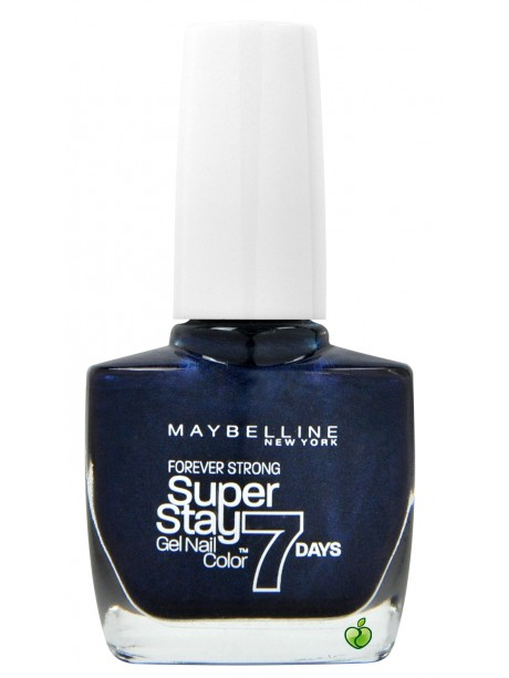 Vernis à Ongles Gemey Maybelline SuperStay 7 jours n°650 Midnight Blue(ancien packaging)