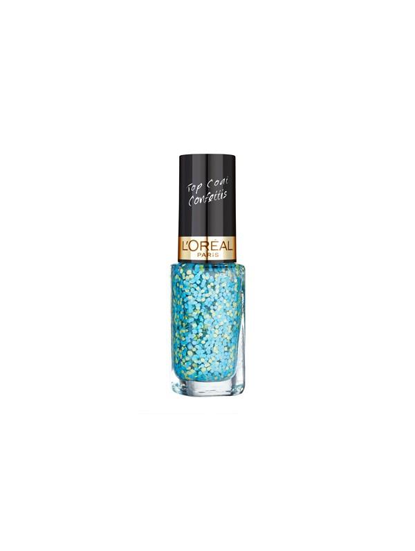 vernis l 39 oreal color riche top coat confettis n 928 oulala blue 2 49. Black Bedroom Furniture Sets. Home Design Ideas